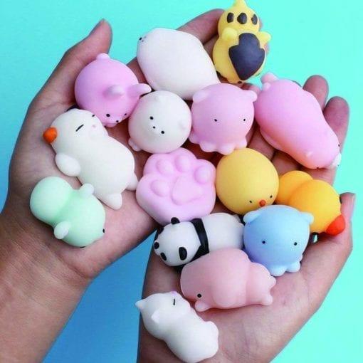 Squishy Mochi Mini Animal Soft Silicone 10-pack