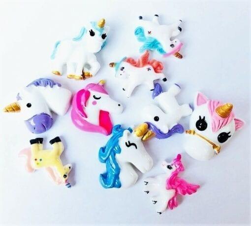 Miniatyr Deco Unicorn Mix 10-pack – Slime Dekorationer