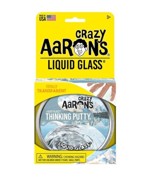 101199 Crazy Aarons Thinking Putty Liquid Glass Crystal Clear