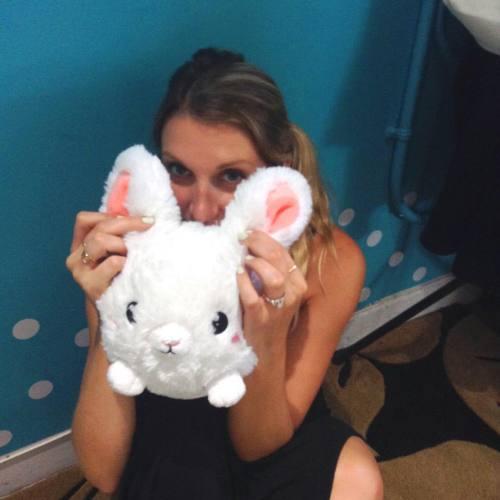 107011 Mini Squishable Fluffy Bunny