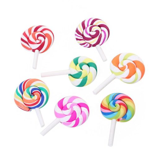 101262-5 Miniatyr Deco Lollipop Candy Cabochon Charms