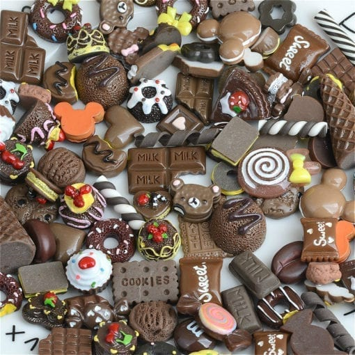 Miniatyr Deco Choklad Mix 20-pack - Slime Dekorationer