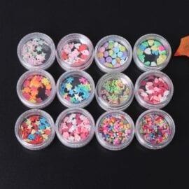 Miniatyr Deco Strössel Mix 12-pack - Slime Dekorationer