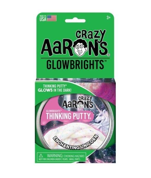 111302-3 Crazy Aarons Thinking Putty Glow ENCHANTING UNICORN