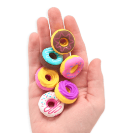 111316-4 OOLY Luktsudd Dainty Donuts Scented Erasers - Set of 6