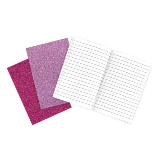 OOLY Glamtastic Glitter Notebooks Pink - Set of 3