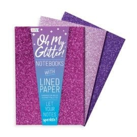 OOLY Glamtastic Glitter Notebooks Pink - Set of 3