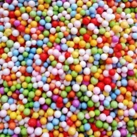 Styrolitkulor Blandade Färger - Foam Beads