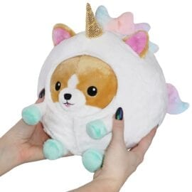 111421 Mini Squishable Undercover Corgi in Unicorn Suit - 18 cm