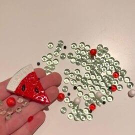 111415 DIY Charms Watermelon + Plastburk Med Skruvlock