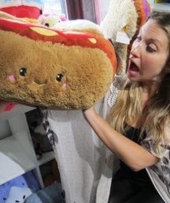 Big Squishable Comfort Food Hot Dog - 38 cm