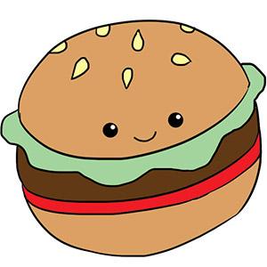 Mini Squishable Comfort Food Hamburger - 18 cm