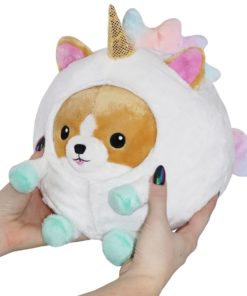 Mini Squishable Undercover Corgi in Unicorn Suit - 18 cm