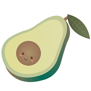 mjuk avocado kudde