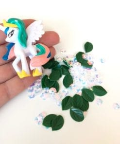 111414 DIY Charms Unicorn + Plastburk Med Skruvlock