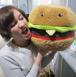 Big Squishable Comfort Food Hamburger - 38 cm