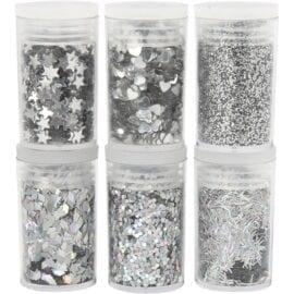 Glitter Silver 6x5 g