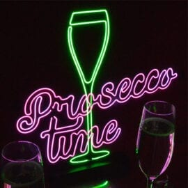 Prosecco Time Neon-Effect Light