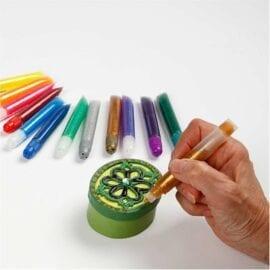 Glitterlim mixade färger 12-pack