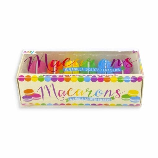 111493-2 OOLY Macarons Vanilla Scented Erasers