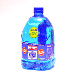 Clear Blue School Glue Slime PVA Lim 4.5 L