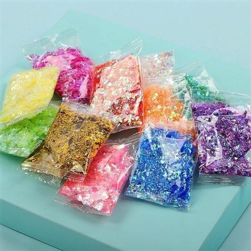 111534 Glitterflingor Iriserande - Slime Dekorationer 1