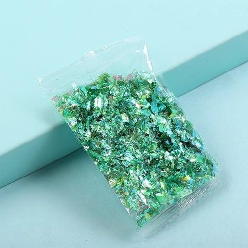 Glitterflingor Iriserande - Slime Dekorationer Grön