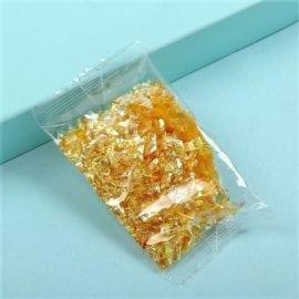 Glitterflingor Iriserande - Slime Dekorationer Guld