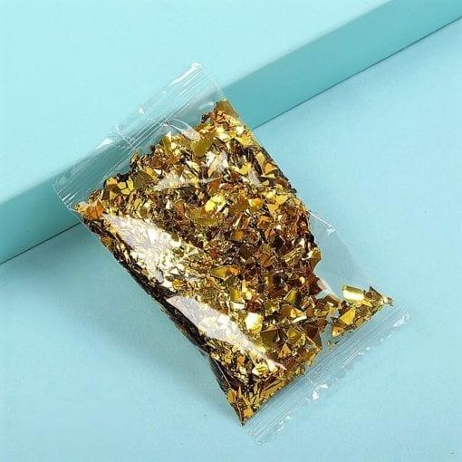 Glitterflingor metallic - Slime Dekorationer Guldmetallic