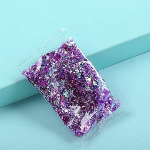 Glitterflingor Iriserande - Slime Dekorationer Lila