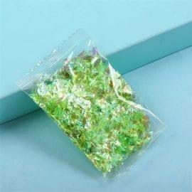 Glitterflingor Iriserande - Slime Dekorationer Limegrön