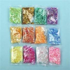 111534 Glitterflingor Iriserande - Slime Dekorationer