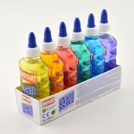6-Pack Super Clear Color Glue Slime PVA Lim