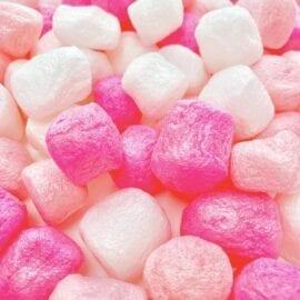 Pink Pärlor Stora Skumbollar Marshmallows - Slime Dekorationer