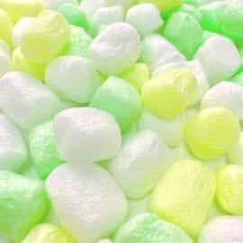 Green Pärlor Stora Skumbollar Marshmallows - Slime Dekorationer