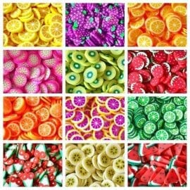 111585 Fruit Fimo Cane Slices