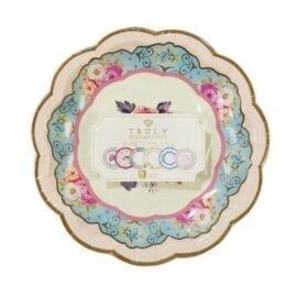 Pappersassietter Vintage Blommönster - Truly Scrumptious