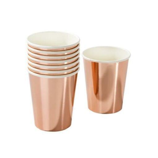 Pappersmuggar Roseguld Metallic - Party Porcelain
