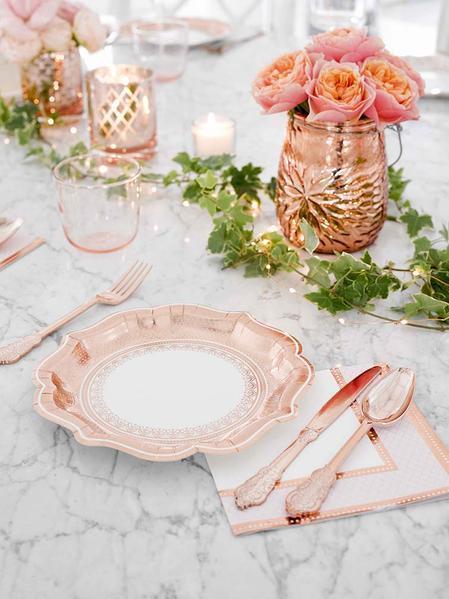 TT Talking Tables Party Porcelain Rose Gold Range