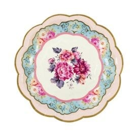 Papperstallrikar Vintage Blommönster - Truly Scrumptious