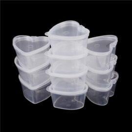 Plastburk Hjärtformad Liten 10-pack