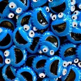 Miniatyr Deco Cookie Monster - Slime Dekorationer 5-pack