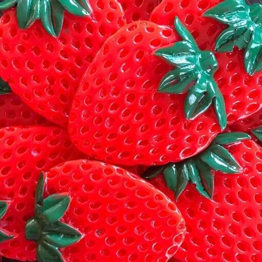 Miniatyr Deco Fimo Fruktskivor - Slime Dekorationer