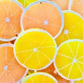 Miniatyr Deco Citrusskivor – Slime Dekorationer