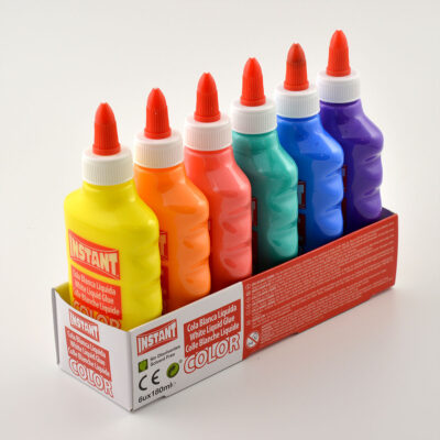 6-Pack Color Glue Slime PVA Lim