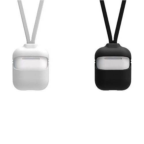 Silicone Case With Strap Set For Apple AirPods