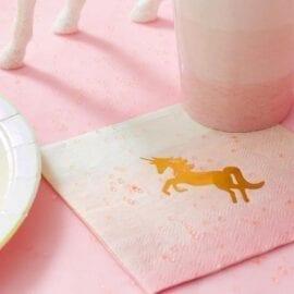Servetter Enhörning - We Heart Unicorns Pastel