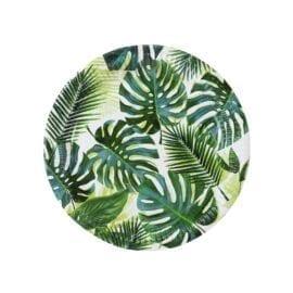 Papperstallrikar Palmblad - Tropical Fiesta