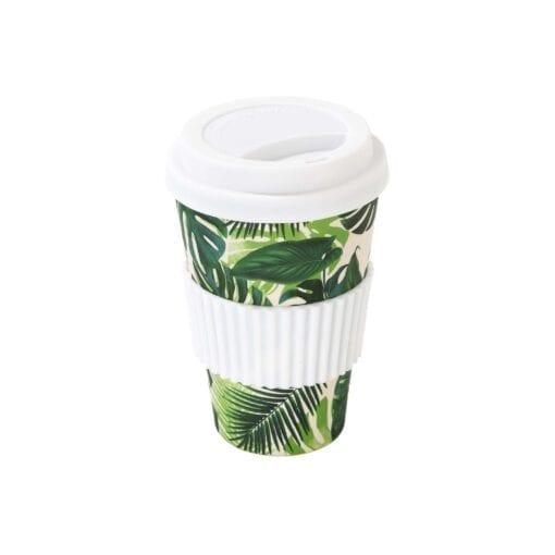 To Go Mugg Bambu Palmblad - Tropical Fiesta