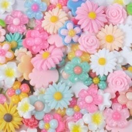 Miniatyr Deco Blommor - Slime Dekorationer